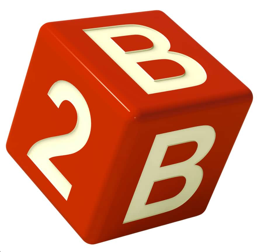 B2b Dice As A Sign Of Partnership